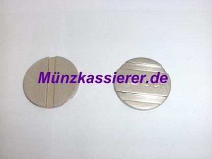 Münzkassierer.de Münzautomaten.com 10 x Münzen Wertmarken PD25 WM25 PD 25 WM 25 Ø 25 x 2mm. 1 & 2 Rillen