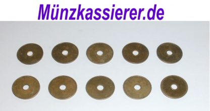10 x Wertmarken Ø 27 x 2,3 Loch Ø 6mm. Münzkassierer.de Münzkassierer (1)