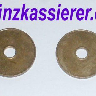 10 x Wertmarken Ø 27 x 2,3 Loch Ø 6mm. Münzkassierer.de Münzkassierer (3)