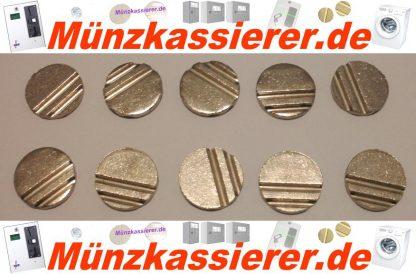 10 x Wertmarken Ø 24 x 3,2 mm. Rillen Profiliert Münzkassierer-Münzkassierer.de-3