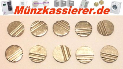 10 x Wertmarken Ø 24 x 3,2 mm. Rillen Profiliert Münzkassierer-Münzkassierer.de-4
